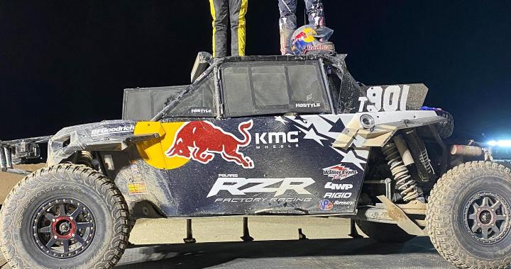 Sports Alert: Laughlin, NV: Winners of the 5th Annual King Shocks Laughlin Desert Classic's Baja Designs UTV Night Race.