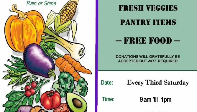 Downtown Needles, CA: Free fruits, vegetables and pantry items for local residents at WOW! Pop-Up Mobile Pantry on Saturday.