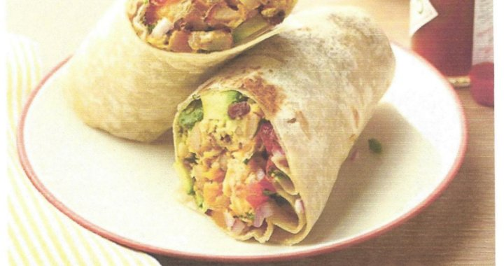 Golden Shores, AZ: Breakfast burritos at the Veterans of Foreign Wars Post 6306 and Auxiliary on Sunday.