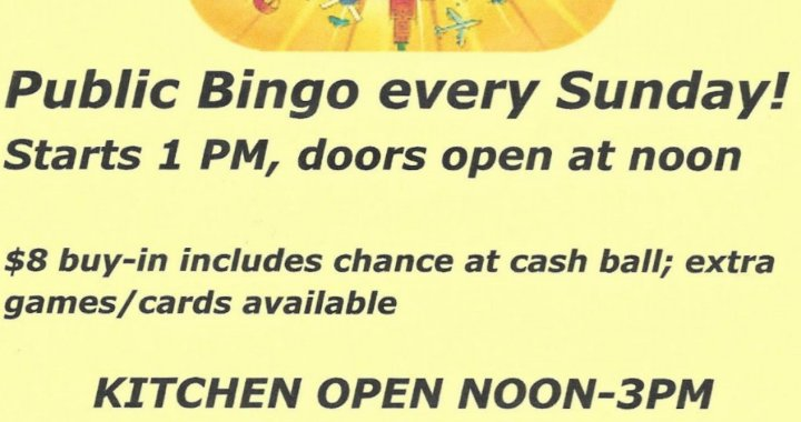 Golden Shores, AZ: BINGO at the Veterans of Foreign Wars Post 6306 and Auxiliary on Sunday.