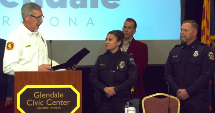 Glendale, AZ: Local officials along with parents of two teenagers shot during a shooting at Westgate Entertainment District thanked first responders for saving lives.