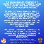 News Alert: Downtown Kingman, AZ: City of Kingman and Kingman Police Department release statement in response to Black Lives Matter protests planned this week at Locomotive Park.