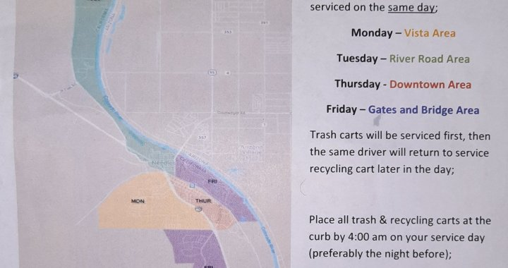 News Alert: Needles, CA: Reminder to all residential and business regarding changes to pick ups of Republic Services 95 gallon waste and recycling carts.