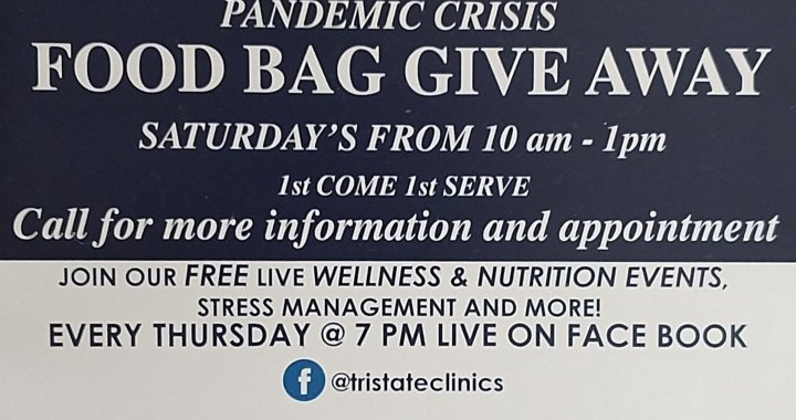 Needles, CA: Tri-State Community Healthcare giving away free food boxes on Saturday.