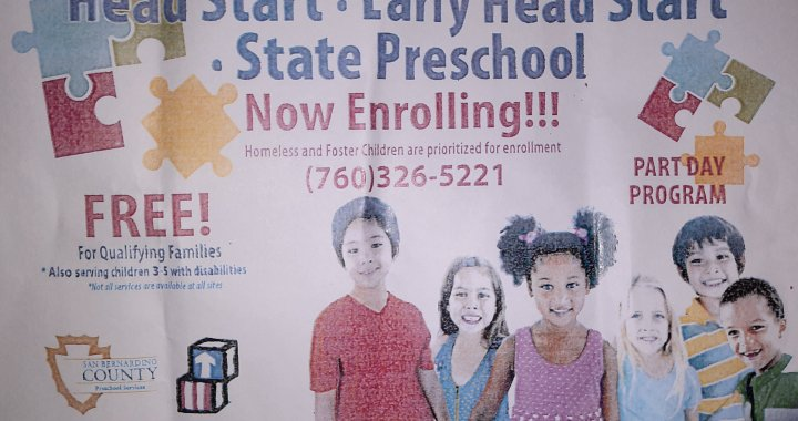 Needles, CA: Needles Head Start continues open enrollment for 2020-2021 school year.