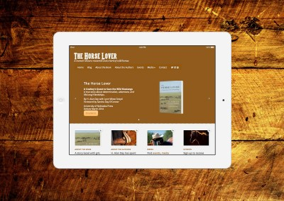 The Horse Lover – Book Website Design