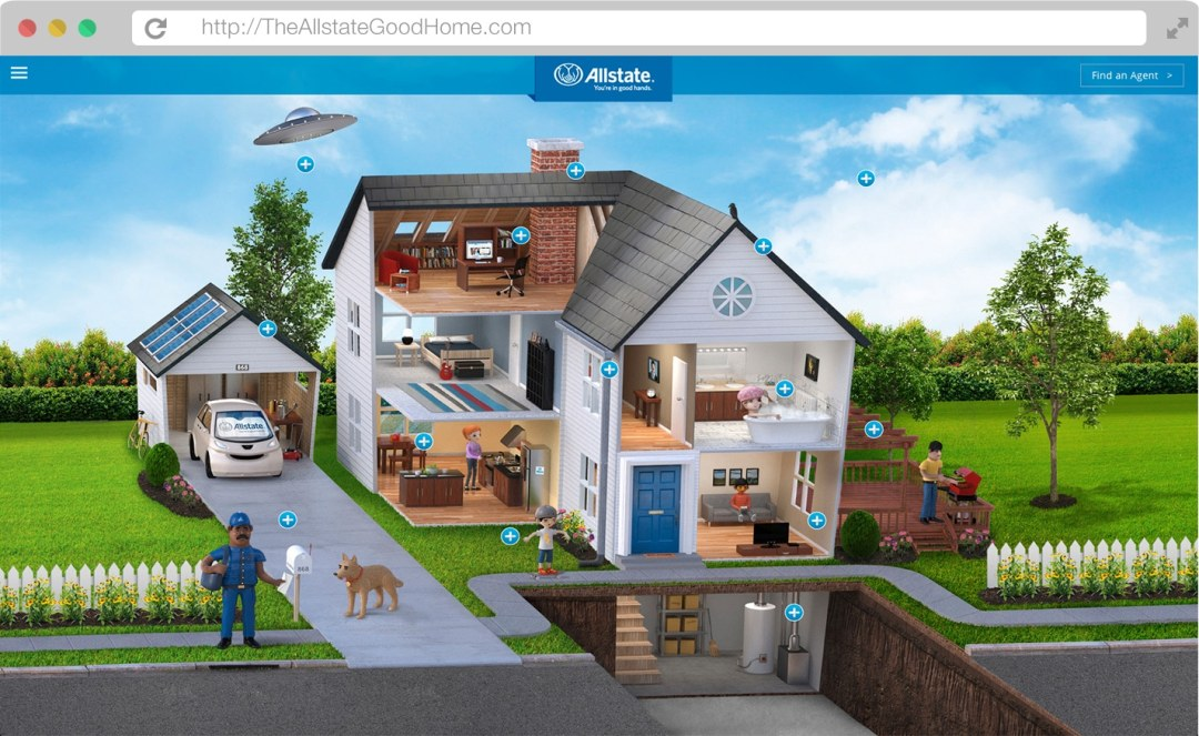 The Allstate Good Home website mockup