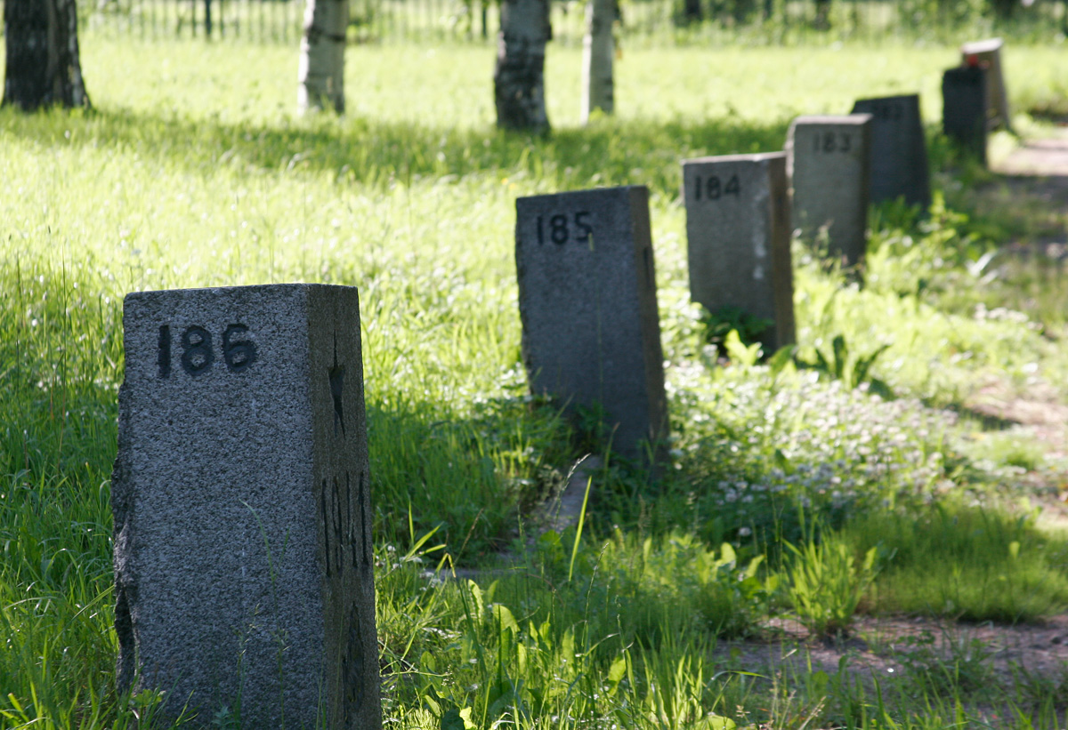 There are 186 mass graves in the cemetery.