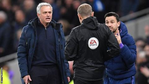 Watch Mourinho's hilarious emotional rollercoaster as he chases official to demand Sterling red card [VIDEO] – Citi Sports Online