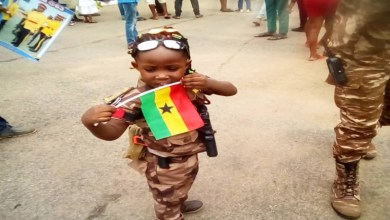 Army kid at Ghana's Independence Day Celebration
