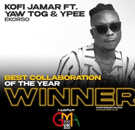 Kofi Jamar Grabs Two Awards With Yaw Tog and YPee With Ekorso In UK