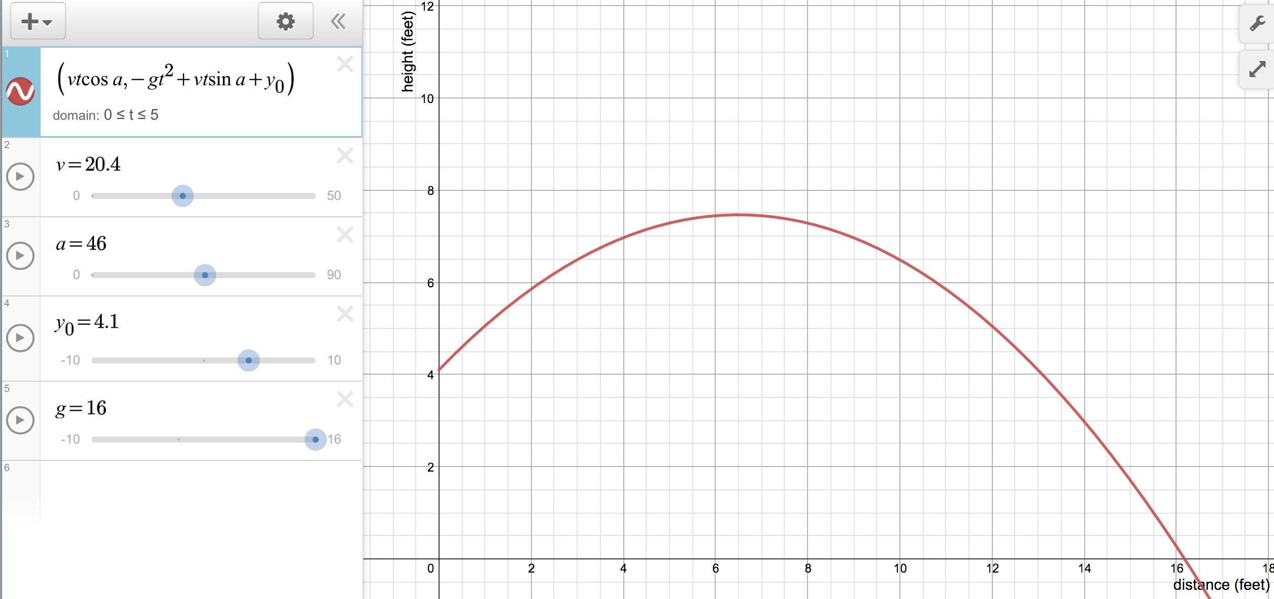 Projectile Motion Project Pt 3 Broken Tech Great Math Challenge