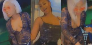 Hajia4Real Gets Efia Odo The Weirdest And Craziest Cake For Her Birthday – Video