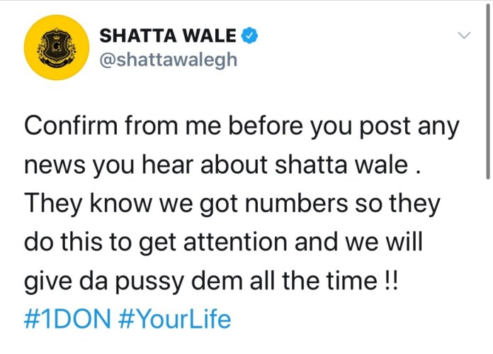 E8ECC9CB AFF3 47C3 BCFD EFFBCCCE3C27 Confirm From Me Before You Post Any News About Me – Shatta Wale Warns