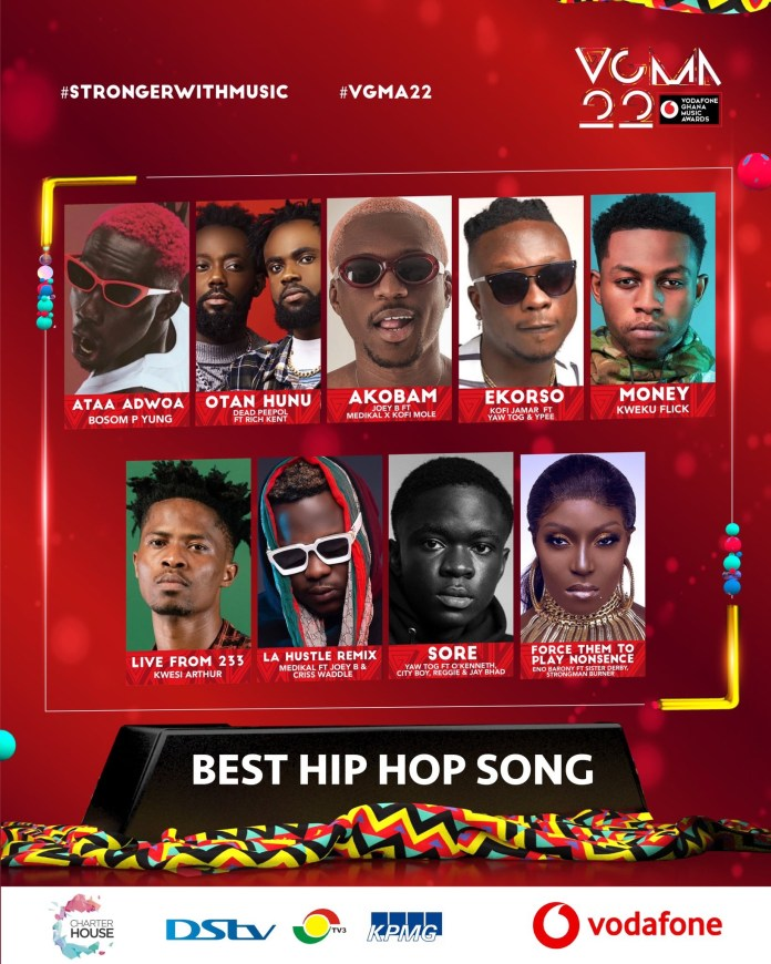 Sarkodie got missing as VGMA release nominees for Best Hiphop song of the year