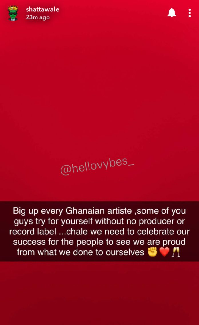 3247978D 503E 43AB 8B4D 6469AD6C9CC8 Shatta Wale Heaps Praises On His Industry Colleagues For Staying Relevant Under Ghana Music Fraternity