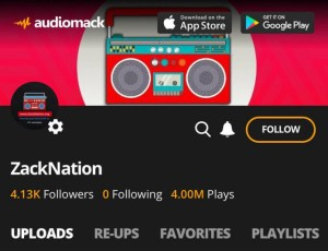 Audiomack home logo for Zacknation