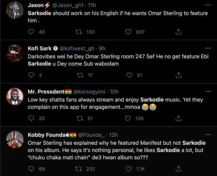 """678485A4 35DC 4D2E 94E3 0B0CAFF34F9C """"Sarkodie's English is really bad, he needs to upgrade"""" – Why Omar Sterling featured M.anifest and not Sarkodie on his new album (PHOTOS)"""