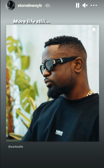 5A9FD55B 80D1 4E33 B5C9 FA2CD29FADFF Moment When Stonebwoy Sends Surprising Birthday Message To Sarkodie Despite Their Recent 'Beef' – See His Post