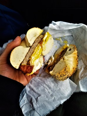 New York bagels are another breed.