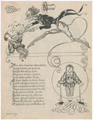 """Heinrich Hoffmann, """"Staś Straszydło"""" (źródło)."""