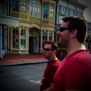 Kurt, Adam, and I walking down Main St like a boss.