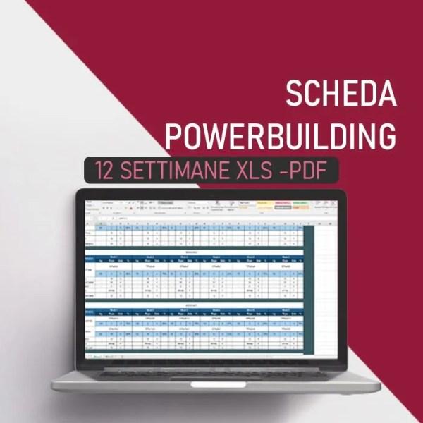 scheda d'allenamento powerbuilding