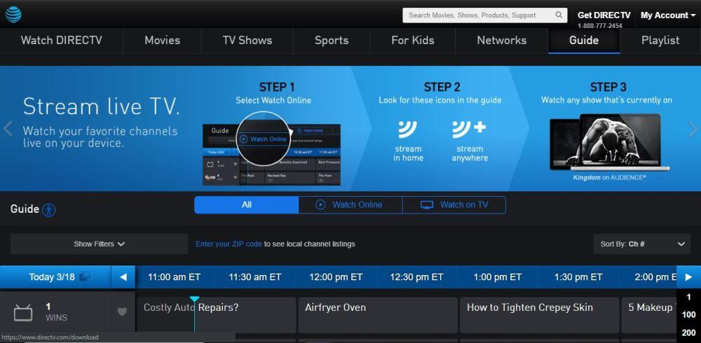 DirecTV Channels Guide