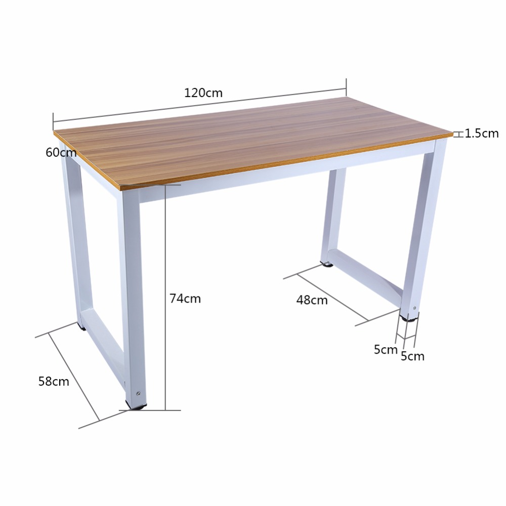 Modern Wooden U0026 Metal Computer PC Home Office Desk Table Functional Study  Table New