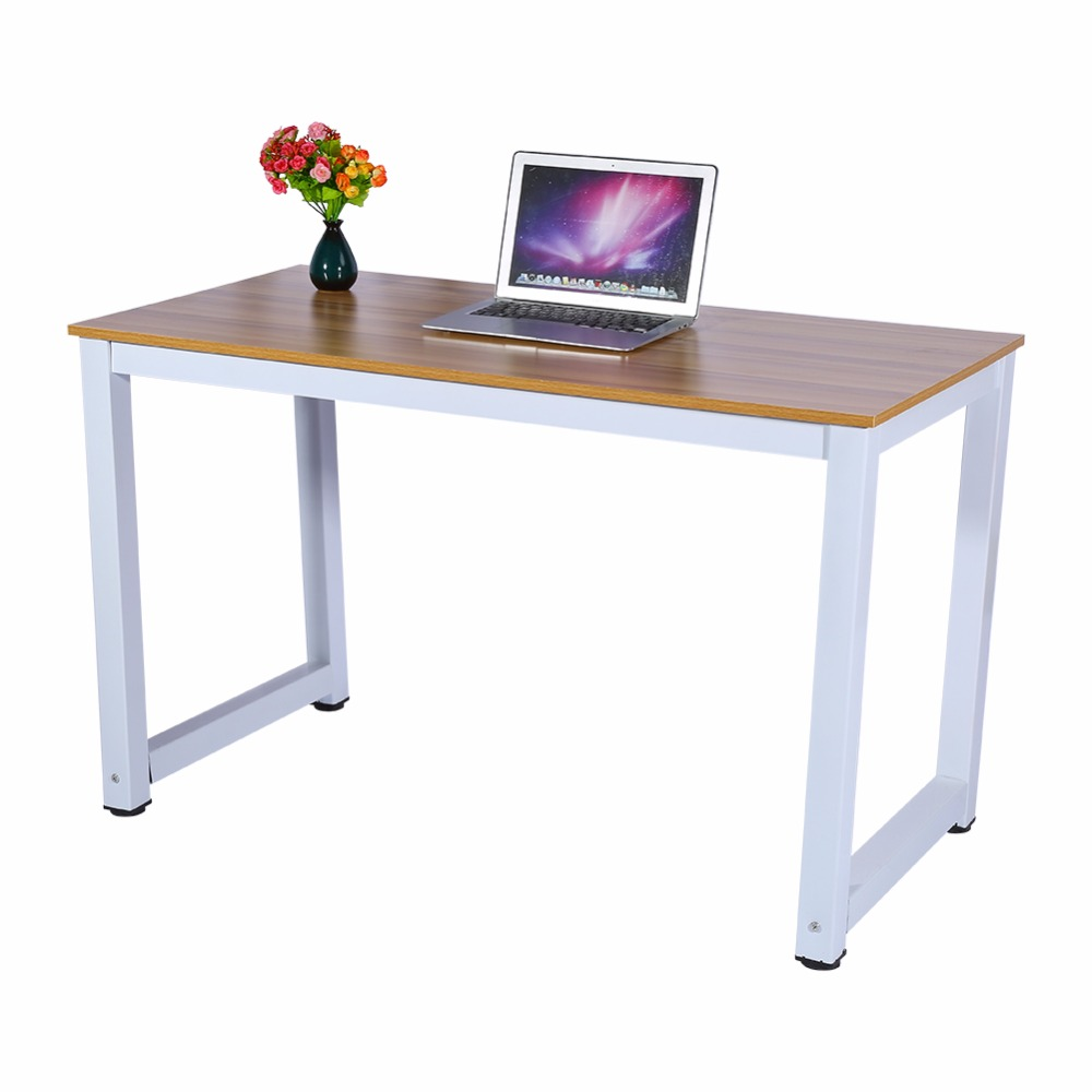 Modern Wooden & Metal Computer PC Home Office Desk Table Functional ...