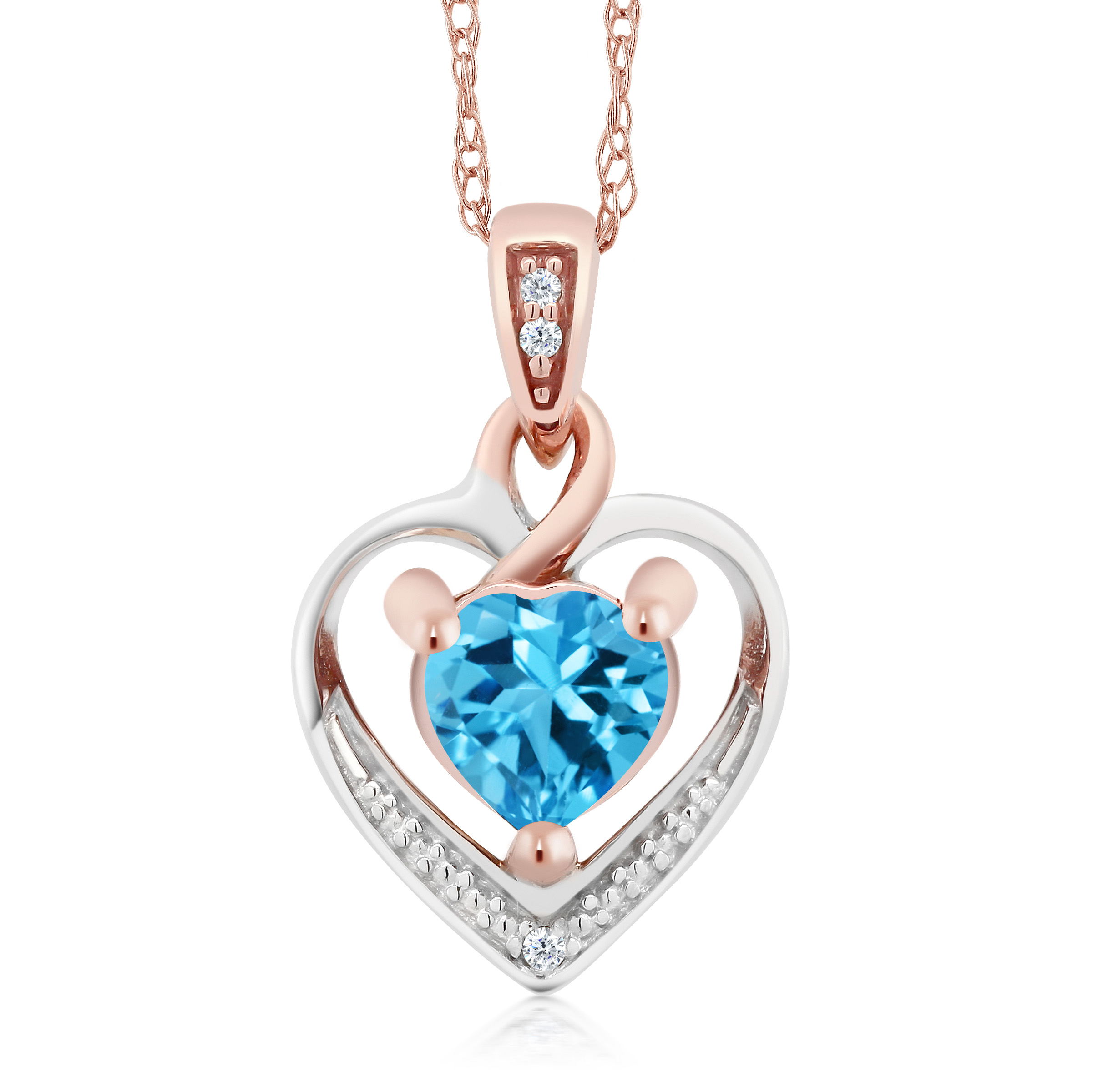 shipping natural blue free overstock in silver topaz today pendant product watches jewelry sterling opal diamonds with