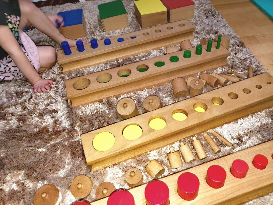 Łączenie materiałów Montessori