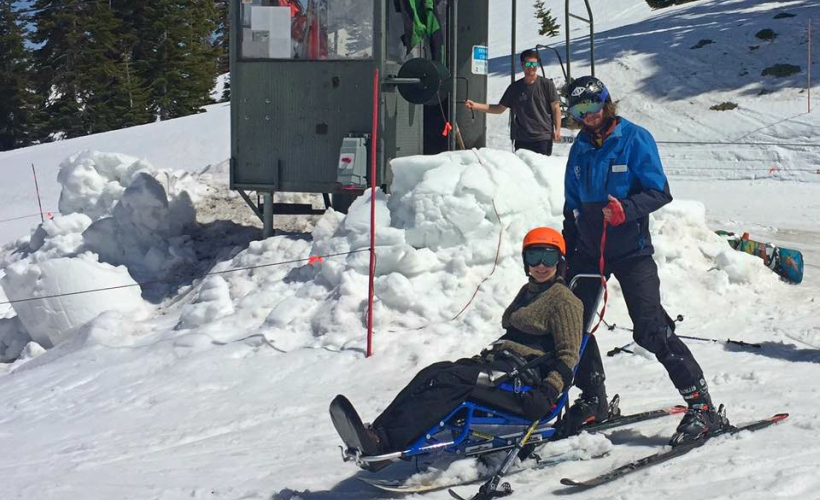 Jeanne at the Alpine Meadows. (Photo Credit: Facebook @ Incredible Accessible)