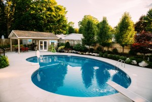 Inground pool in a custom shape for a West Michigan home - Zagers Inground Pools Grand Rapids