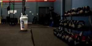 Shaker Bottle in Training Gym