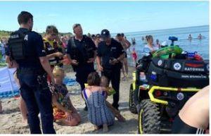 4-letnia dziewczynka zgubiła się na plaży. Szczęśliwy finał poszukiwań