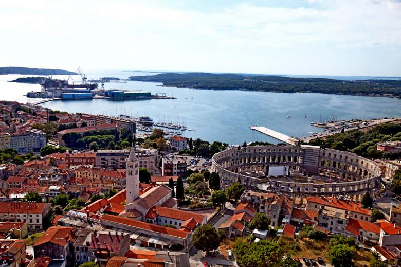 Pula city, Istrian penninsula