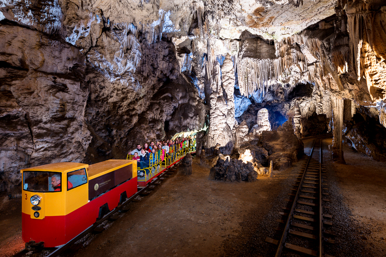 Postojna cave tour on the Budapest to Dubrovnik multi-day tour