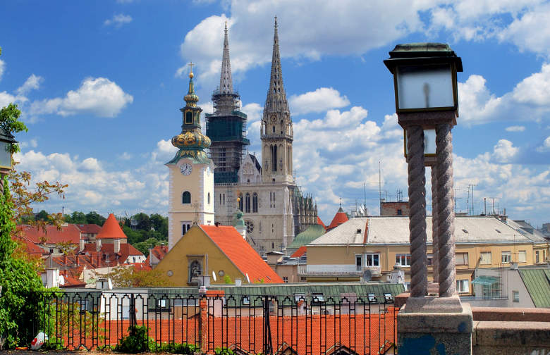 Zagreb Cathedral - view from the Upper city