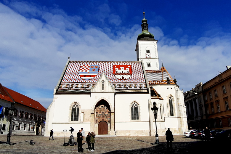 St Mark's church and square are included in Zagreb wine tour