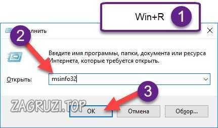 Msinfo32 командасы.