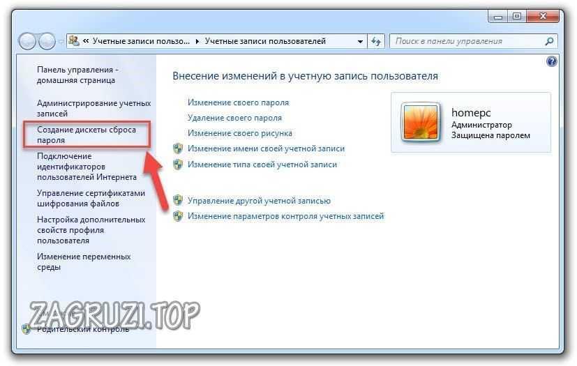 Şifre Sıfırlama Floppy Oluşturma