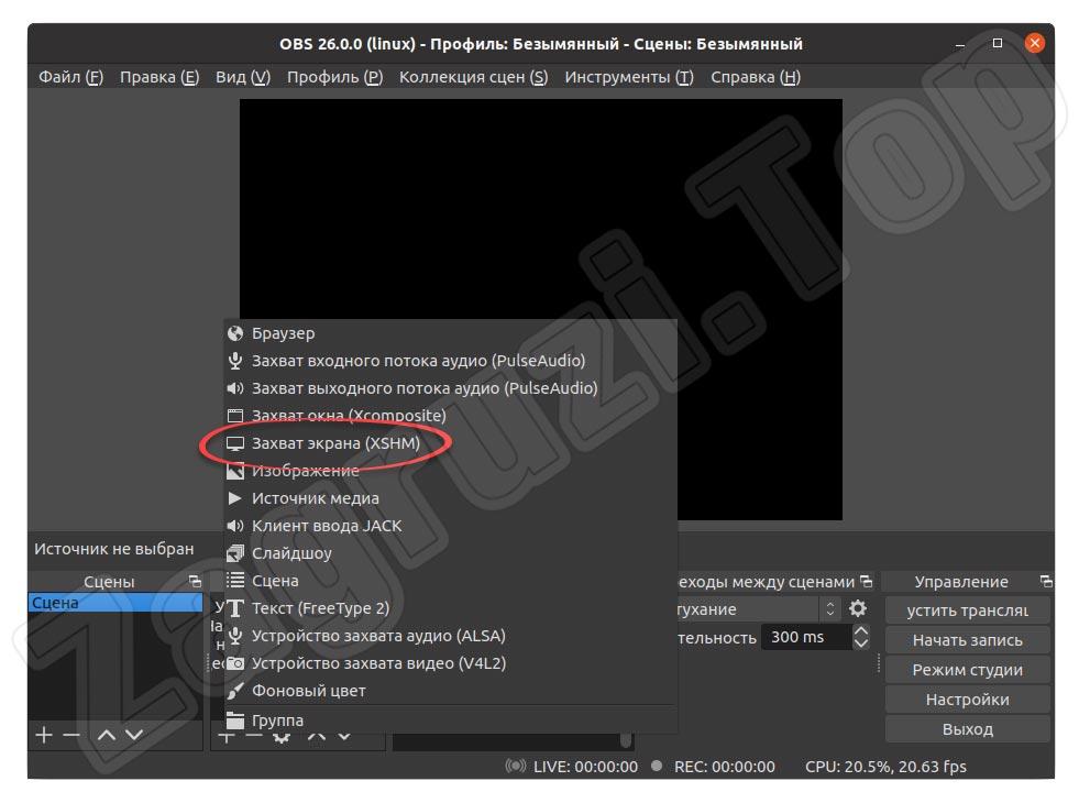 将屏幕捕获源添加到Linux上的OBS