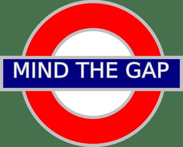 Mind the Gap Tube Sign by Anne Moniuk | clker.com