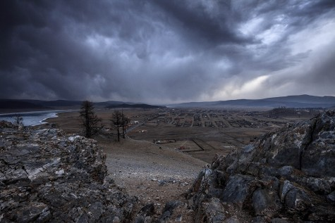 Storm is coming over the sky of Khatgal, Northern Mongolia