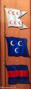 Drapeaux navals de l'époque Husseinite