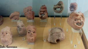 Masques musée carthage اقنعة متحف قرطاج