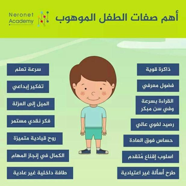 رسائل تربوية - صفات الطفل الموهوب