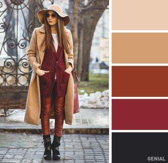 colores de otoño paleta marrones