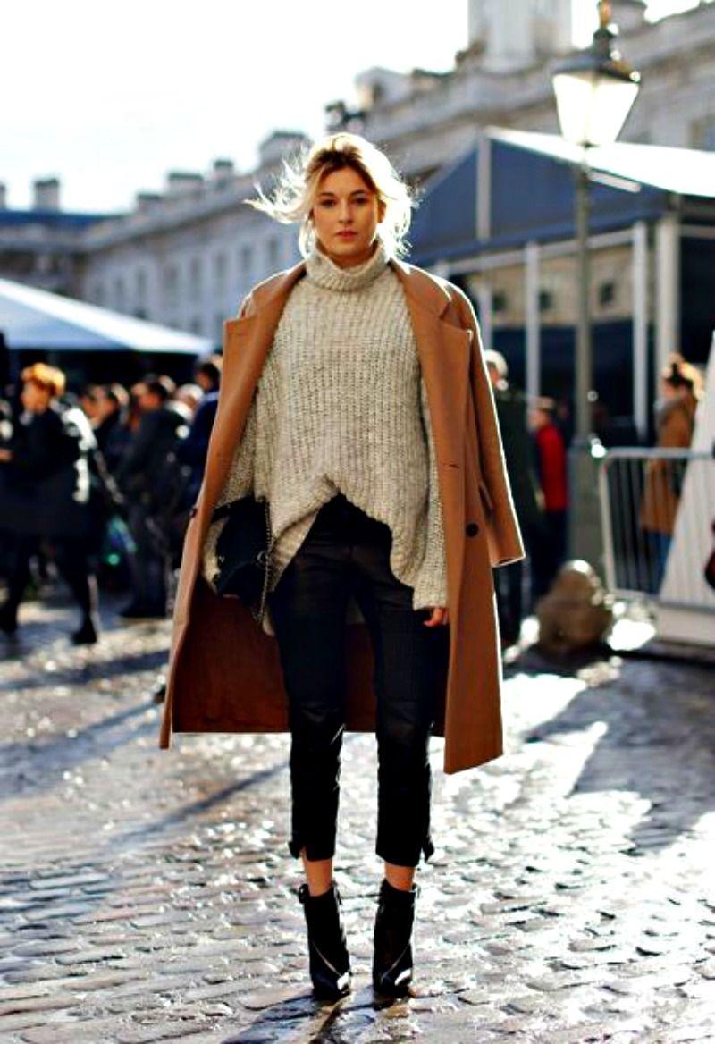 jersey de lana con cuero